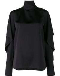 Marni - Buttoned Side Neck Blouse - Lyst