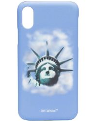 Off-White c/o Virgil Abloh - Blue Liberty Print Iphone X Case - Lyst