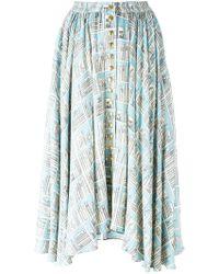 Olympia Le-Tan - Printed Full Skirt - Lyst