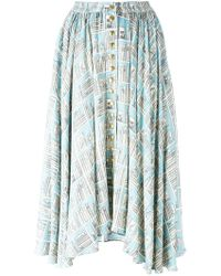 Olympia Le-Tan - Printed Full Skirt - Lyst