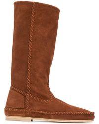 Alberta Ferretti - Mid-calf Suede Boots - Lyst