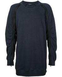Ann Demeulemeester - Zipped Sleeve Sweatshirt - Lyst