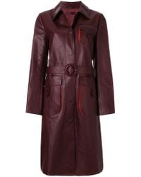 Bottega Veneta - Dark Barolo Calf Coat - Lyst