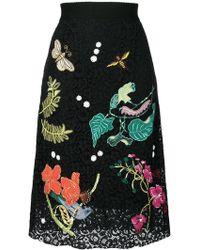 Essentiel Antwerp - Embroidered Lace Skirt - Lyst