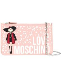 Love Moschino - Printed Chain Wallet - Lyst