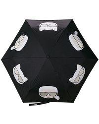 Karl Lagerfeld - Paraguas con estampado Ikonik - Lyst