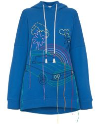 MIRA MIKATI | Oversized Embroidered Cotton Hoodie | Lyst