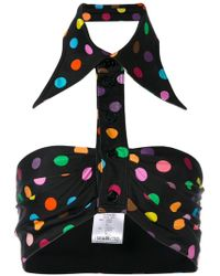 Givenchy - Polka Dot Collated Bralette Top - Lyst
