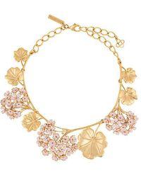 Oscar de la Renta - Geranium Painted Necklace - Lyst
