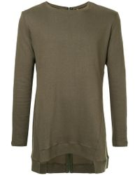 First Aid To The Injured - Back Zip Asymmetric Sweatshirt - Lyst