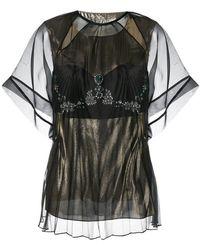 Maison Margiela - Sheer Layered T-shirt - Lyst