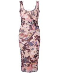 Fuzzi - Abstract Print Tube Dress - Lyst