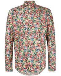 Dell'Oglio - Floral Print Shirt - Lyst