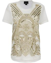 Just Cavalli - Embellished T-shirt - Lyst