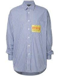 Martine Rose - - Oversized Patch Cotton Shirt - Mens - Blue Multi - Lyst