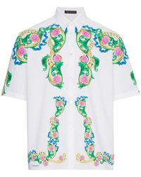 Versace - Cotton Shirt - Lyst