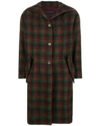 Miaoran - Tartan Single-breasted Coat - Lyst