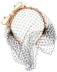 RED Valentino - Embellished Net Hairband - Lyst