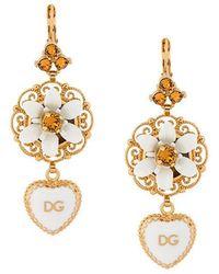 Dolce & Gabbana - Dg Heart Dropped Earrings - Lyst