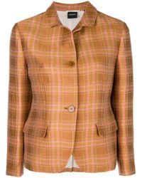 Aspesi - Plaid Shirt Jacket - Lyst