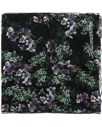 Blumarine - Floral Print Sheer Scarf - Lyst