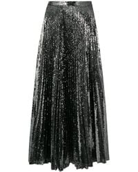 Marco De Vincenzo - Pleated Sequinned Skirt - Lyst