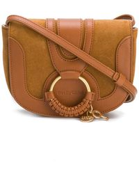 See By Chloé - Mini Hana Leather Shoulder Bag In Caramel - Lyst