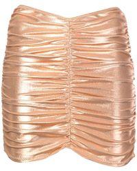 Lisa Marie Fernandez - Metallic Ruched Skirt - Lyst
