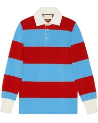 Gucci | Striped Polo With Thanatos Embroidery | Lyst