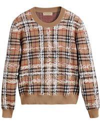 Burberry - Scribble Check Merino Wool Jumper - Lyst