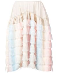 Jourden - Fringed Rainbow Skirt - Lyst