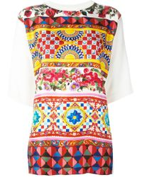 Dolce & Gabbana | Mambo Print Top | Lyst