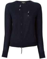 DSquared² - Zip Accent Pullover - Lyst