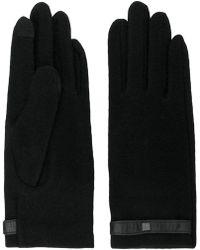 Lauren by Ralph Lauren - Black Gloves With Tab - Lyst