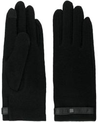 Lauren by Ralph Lauren - Black Gloves With Tab - Lyst