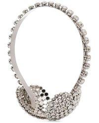 Alessandra Rich Embellished Ear-muff Headband - Metallic
