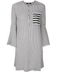Karl Lagerfeld - Striped Bell Sleeved Dress - Lyst