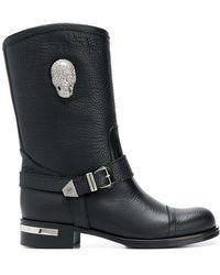 Philipp Plein - Skull Light High Ankle Boots - Lyst