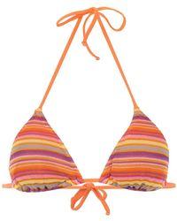 Cecilia Prado - Striped Bikini Top - Lyst