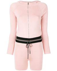 La Perla - Hooded Track Style Playsuit - Lyst