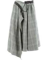 AALTO - Checkered Skirt - Lyst