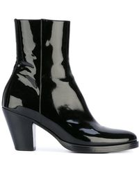 Lyst - A.F.Vandevorst Heeled Leather Ankle Boots in Black 3363374e57b