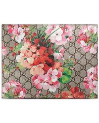 d6f4379b5c6 Gucci - GG Blooms Large Cosmetic Case - Lyst