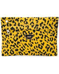 Diane von Furstenberg - Leopard Print Clutch Bag - Lyst