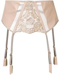 Loveday London - Arista Suspender Belt - Lyst
