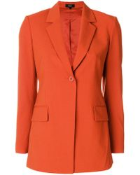 Theory - Classic Single Buttoned Blazer - Lyst