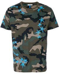 Valentino - Camouflage Star Print T-shirt - Lyst
