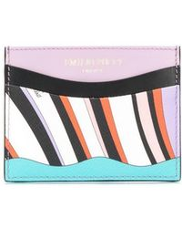 Emilio Pucci - Lilac And Blue Shell Print Card Case - Lyst