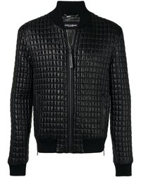 Dolce & Gabbana - Quilted Bomber Jacket - Lyst