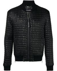 Dolce & Gabbana Veste bomber à effet matelassé
